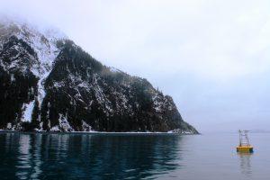 The GAKOA buoy is located in the mouth of Resurrection Bay near Seward